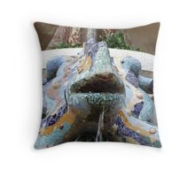 Cosmos Parc Guell Throw Pillow