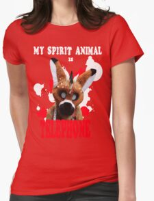 My Spirit Animal is Telephone  Womens Fitted T-Shirt
