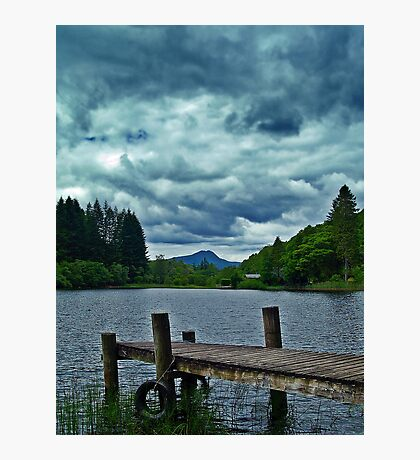 Jetty Over Loch Ard, Scotland. Photographic Print