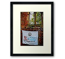 Peace and Ecology Festival, Liverpool July 4th 2010 Framed Print