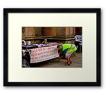 Peace and Ecology Festival, Liverpool, 4th July 2010 Framed Print