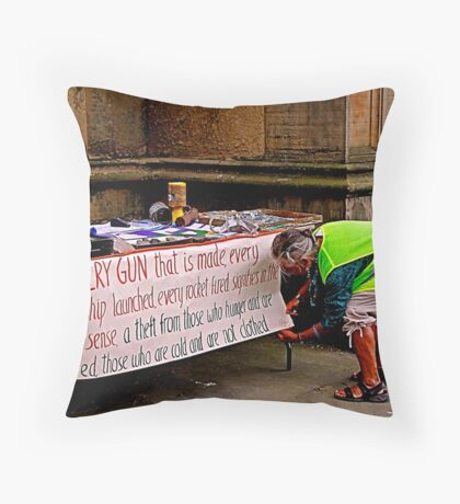 Peace and Ecology Festival, Liverpool, 4th July 2010 Throw Pillow