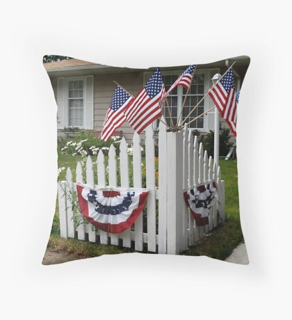 July 4, Bloomington IL Throw Pillow