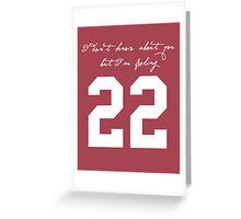 22 Greeting Card