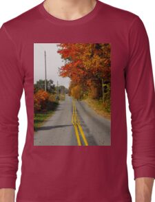 For as much as they are paying you..you would think you could paint the lines straight..idiots Long Sleeve T-Shirt