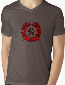 Maki Rakah Israel communist party coat of arms hammer sickle Mens V-Neck T-Shirt