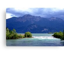 Lake and River. Canvas Print
