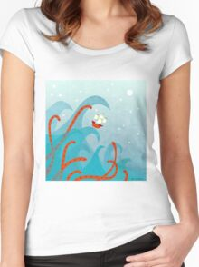 A Bad Day For Sailors Women's Fitted Scoop T-Shirt
