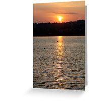 devon sunset  Greeting Card