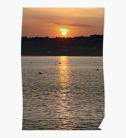 devon sunset  Poster