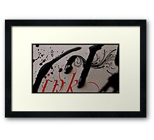Ink. Framed Print