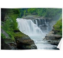 Lower Waterfall at Letchworth Poster