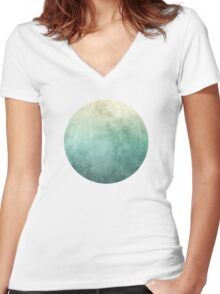 Abstract I Women's Fitted V-Neck T-Shirt