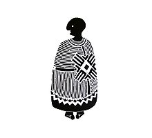 African man artwork pattern  Photographic Print