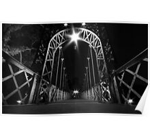 Porthill bridge at night Poster