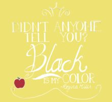 Black is my color (white font, American spelling) Kids Clothes
