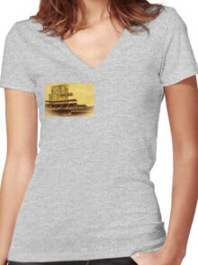 America's Finest Downtown Ballpark Women's Fitted V-Neck T-Shirt