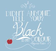 Black is my colour (white font, English spelling) Baby Tee