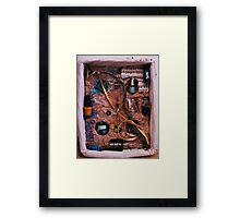 Snake in a box - inspired by Joseph Cornell boxes Framed Print