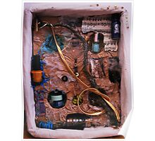 Snake in a box - inspired by Joseph Cornell boxes Poster