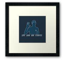 Live Long And Prosper v2~ Framed Print