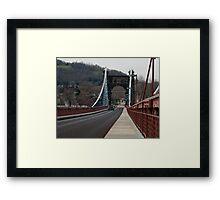 The Wheeling Suspension Bridge Framed Print