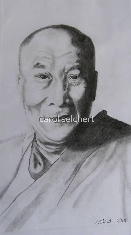 The Dalai Lama by carol selchert