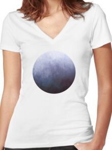 Abstract III Women's Fitted V-Neck T-Shirt