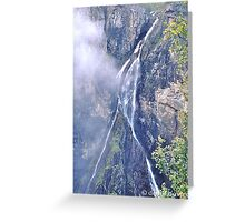 Forked Waterfall Greeting Card