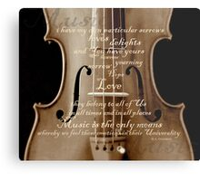 violin with words A.H. Overstreet © 2010 patricia vannucci Metal Print