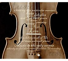 violin with words A.H. Overstreet © 2010 patricia vannucci Photographic Print