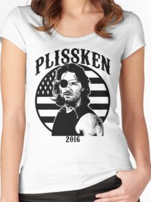 Plissken For President 2016 Women's Fitted Scoop T-Shirt