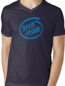 Geek Inside - Blue Mens V-Neck T-Shirt