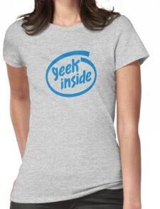 Geek Inside - Blue Womens Fitted T-Shirt