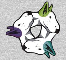 Interlinked Bull Terriers One Piece - Long Sleeve