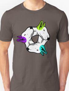 Interlinked Bull Terriers Unisex T-Shirt