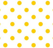 Polka Dots, Spots (Dotted Pattern) - Yellow White by sitnica