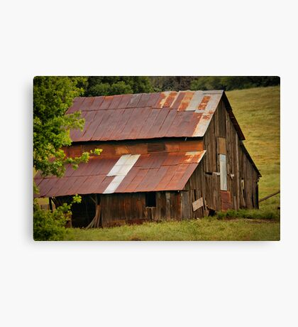 Old Rusted Barn Canvas Print