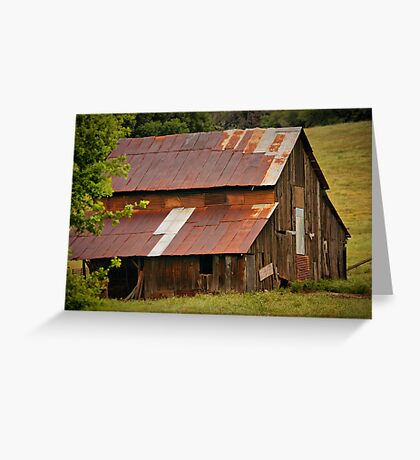 Old Rusted Barn Greeting Card