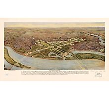 The ultimate Washington D.C. Map (1915) Photographic Print
