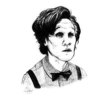 Matt Smith (Doctor Who) Etching by Indigo East