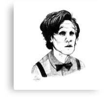 Matt Smith (Doctor Who) Etching Canvas Print