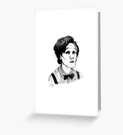 Matt Smith (Doctor Who) Etching Greeting Card