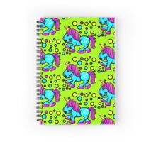 Unicorn Colour Blue and Pink  Spiral Notebook