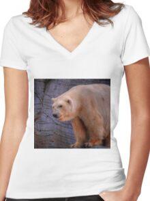 Debbie-The Oldest Polar Bear Women's Fitted V-Neck T-Shirt