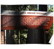 Susan Creek Indian Mounds Poster