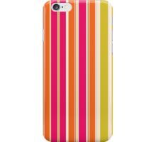 Stripes (Parallel Lines) - Orange Pink Green White iPhone Case/Skin