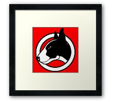 Black and White Bull Terrier Design  Framed Print