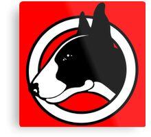 Black and White Bull Terrier Design  Metal Print