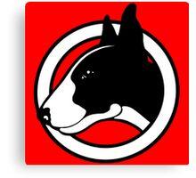 Black and White Bull Terrier Design  Canvas Print